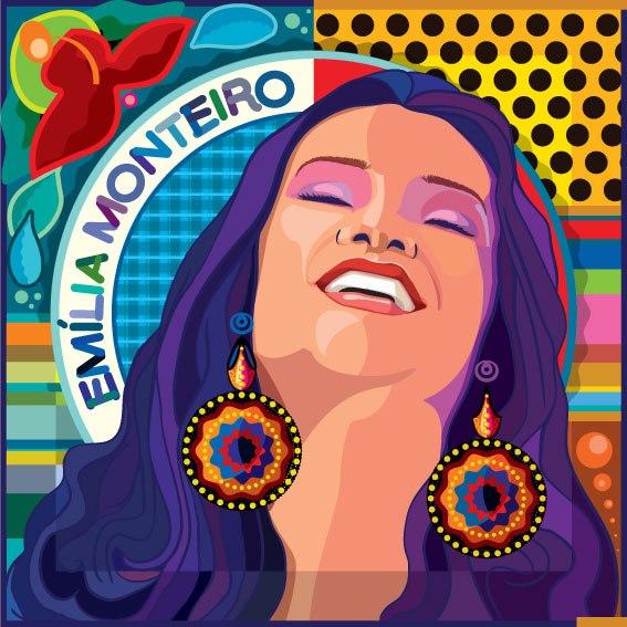 """Capa do disco """"Cheia de Graça"""", de Emília Monteiro. Arte de Ralfe Braga. Divulgação"""